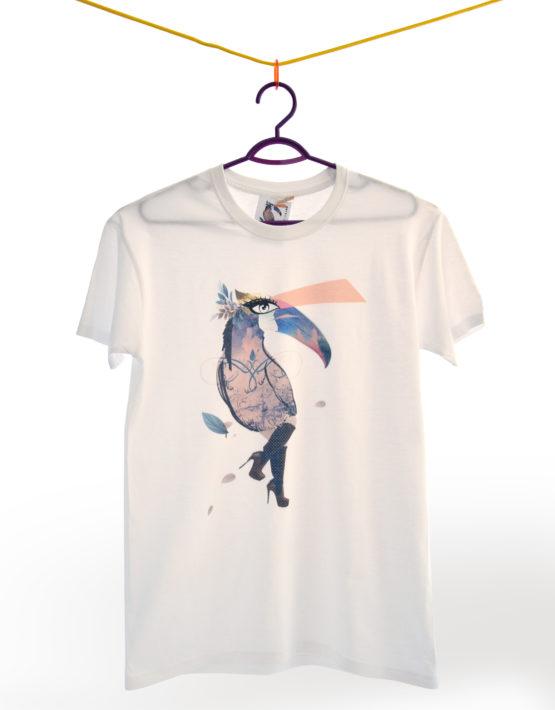 t shirt surrelegance bianco
